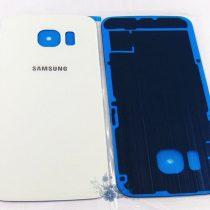 Samsung Galaxy S6 EDGE ✪ stakleni poklopac baterije ✪ BIJELI ✪