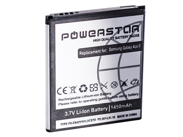 """""""Powerstar"""" baterija za Samsung i8160 Galaxy Ace II Li-Ion 1500mAh"""