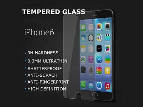Zaštitno kaljeno staklo iPhone 6 zaobljeno - SAMO 0,3mm debljina