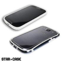 Samsung Galaxy S3 i9300 TPU gel okvir STAR CASE - CRNI i BIJELI