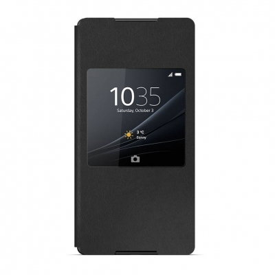ORIGINAL Sony - SCR30 - S-View torbica za Xperia Z3 Plus (Z4) CRNA