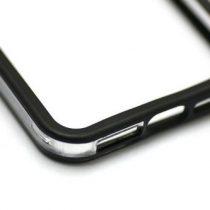 iPhone 4G 4S BIJELI / CRNI TRANSPARENT prozirni bumper + folija