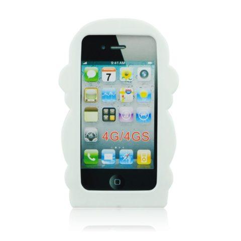 Apple iPhone 4, 4S 3D maskica white monkey ✯ Poklon LCD Zaštita ✯ 49KN!