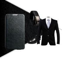 KALAIDENG ENLAND torbica za SAMSUNG NOTE 3 NEO crna PRAVA KOŽA