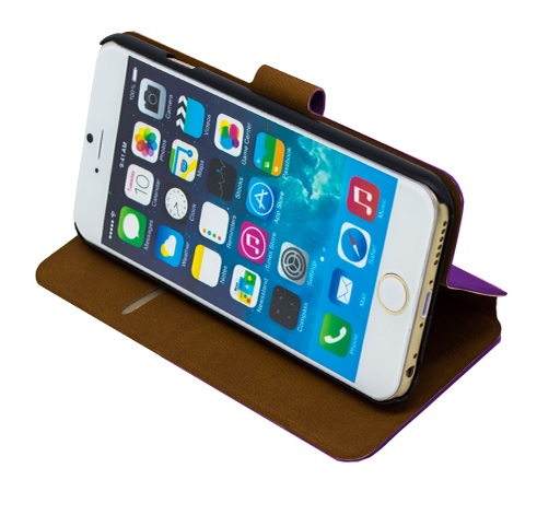 Book Case NOVČANIK View za Apple iPhone 6 + FOLIJA GRATIS - LJUBIČASTA