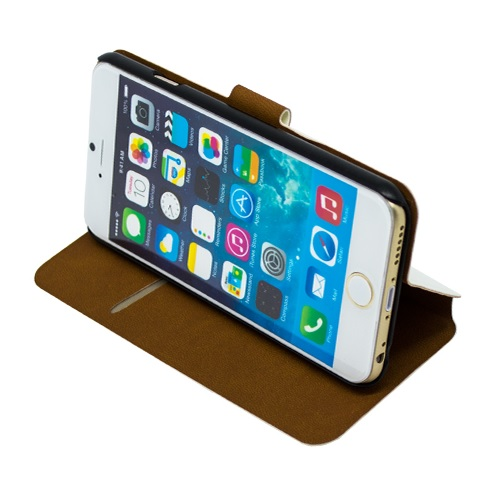 Book Case NOVČANIK View za Apple iPhone 6 Plus + FOLIJA GRATIS -BIJELA