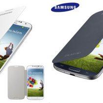 Galaxy S4 ORIGINALNA preklopna zaštitna futrola FLIP COVER bijeli + FOLIJA
