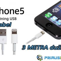 USB Lightning data kabel za iPhone 5 i iPad mini DUŽINA 3 METRA!!