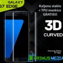 Samsung Galaxy S7 Edge 3D kaljeno staklo + maskica GRATIS