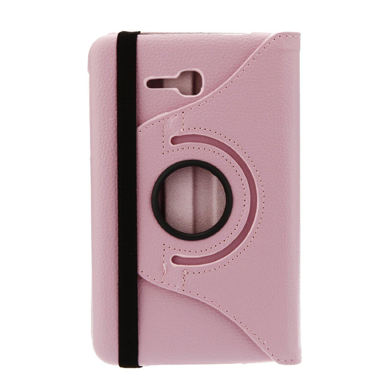 ROTIRAJUĆA torbica 360 Samsung Galaxy Tab 3 Lite 7.0 T110 T111 ROZA + STYLUS OLOVKA GRATIS!