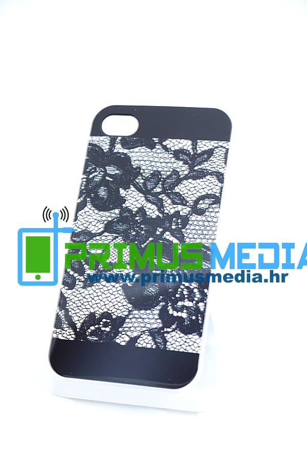 iPhone 4 / 4S 0,5mm TPU gel maskica GLAMME ČIPKA! EKSKLUZIVNO!