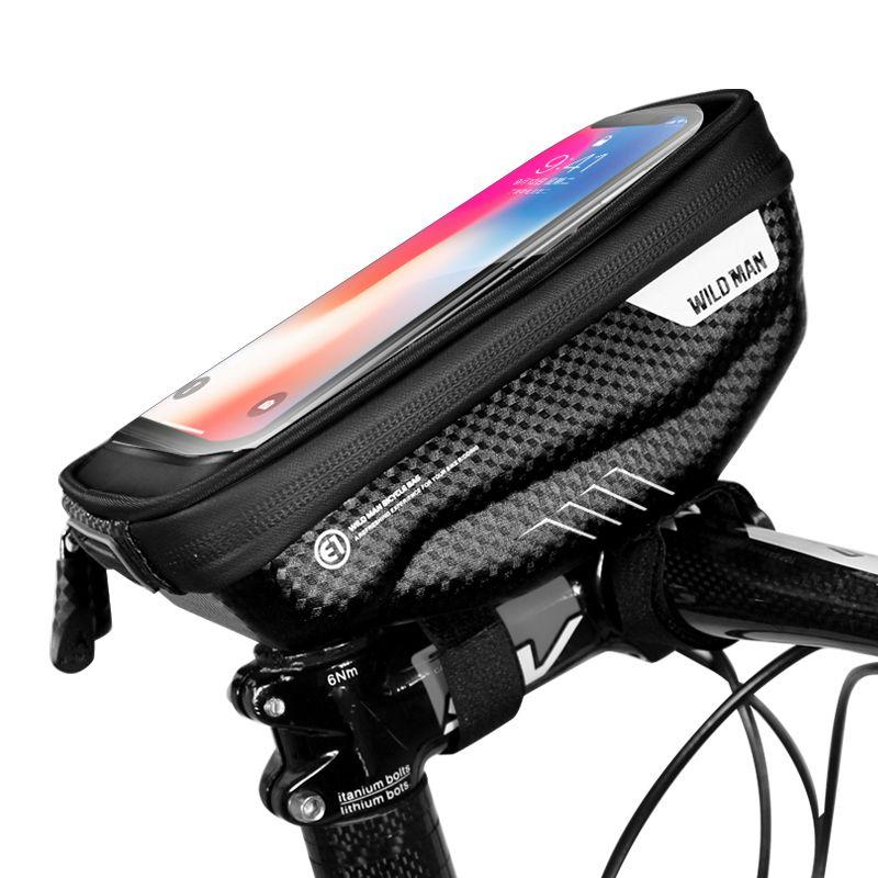 """Vodootporna torba za bicikle WildMan """"S"""" crna"""