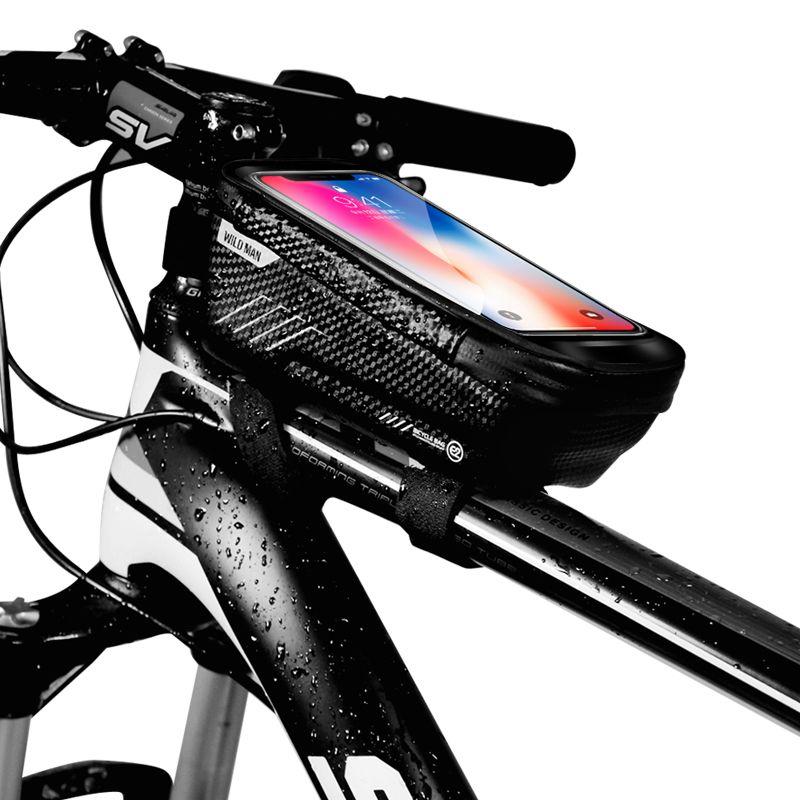 """Vodootporna torba za bicikle WildMan """"M"""" crna"""